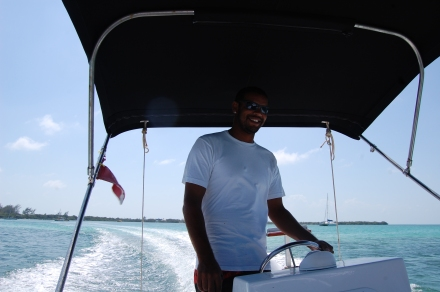"""Chefitan"" Ian forte of E-Z Boy Tours, Caye Caulker, Belize"