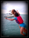 Kaf and Elie 2  Beaches and dreams pier Belize 2012