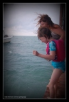 Kaf and Ellie  Beaches and dreams pier Belize 2012