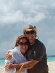 kaf and mark on goof's caye caye caulker belize 2012 - Copy