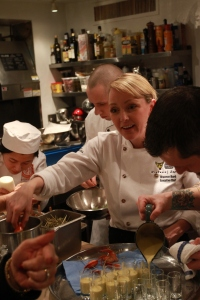 Chef Shannon Bard works with her dedicated  crew.