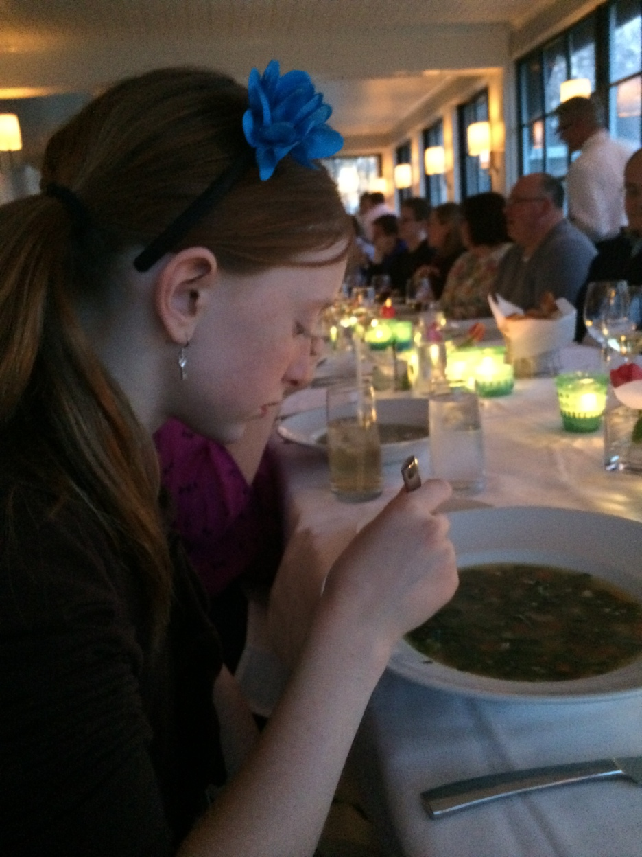 I eat the Straciatella soup